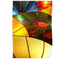 Colorful Vertical Abstract of Blue Green Yellow and Orange Poster