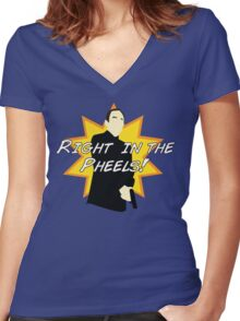 Right in the Pheels! Women's Fitted V-Neck T-Shirt
