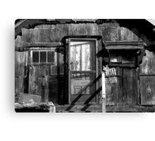 Black and White shack Hawaii Canvas Print