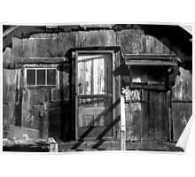 Black and White shack Hawaii Poster