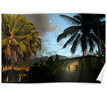 Hawaii Moon Poster