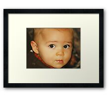 Brown-Eyed Boy Framed Print