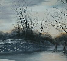 A winter lake by Chris J Worden Gregg