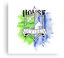 Wizard House Divided {Sly & Smart} Canvas Print