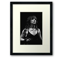 Juliette Lewis in Paris. Framed Print