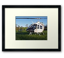 The JetRanger and The Robinson Framed Print