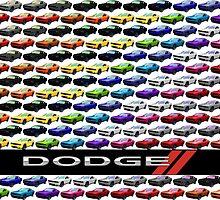 Dodge Challenger Full Spectrum Poster by kalitarios