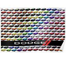 Dodge Challenger Full Spectrum Poster Poster