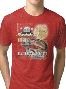 rainbow trout Tri-blend T-Shirt