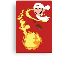 Mario - Fire Flower Mario Canvas Print