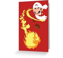 Mario - Fire Flower Mario Greeting Card
