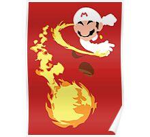 Mario - Fire Flower Mario Poster