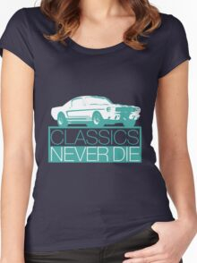 Classics Never Die Women's Fitted Scoop T-Shirt