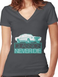 Classics Never Die Women's Fitted V-Neck T-Shirt