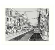 Fitzroy street scene Art Print