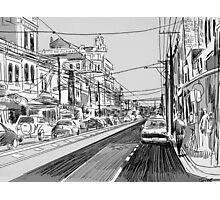 Fitzroy street scene Photographic Print