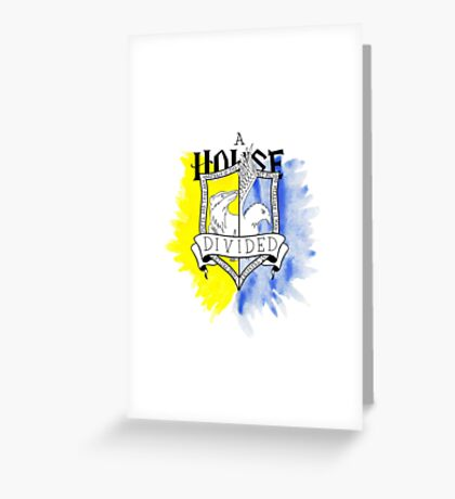 Wizard House Divided {Loyal & Smart} Greeting Card