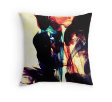 Ink + Water (red, green, blue) Throw Pillow
