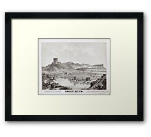 Panoramic Maps View of Green River Wyoming Territory looking north Framed Print