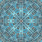 Silver Blue Kaleidoscope  by Beatriz  Cruz