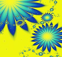 Yellow and Blue Flowers by Beatriz  Cruz
