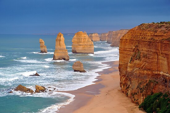 Twelve Apostles. Port Campbell National Park, Victoria, Australia. by Ralph de Zilva