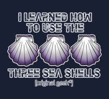 I learned how to use the three sea shells.... Dark Colors Kids Clothes