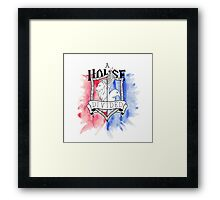 Wizard House Divided {Brave & Smart} Framed Print