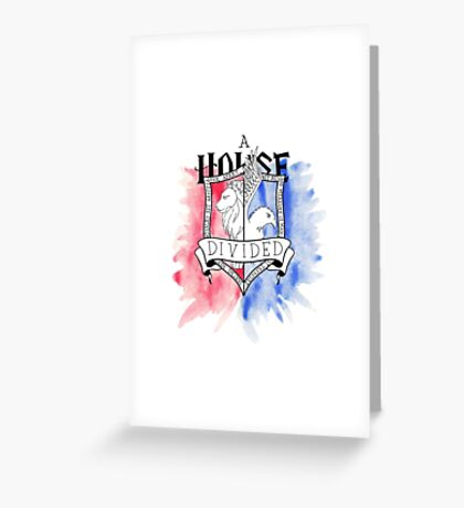 Wizard House Divided {Brave & Smart} Greeting Card