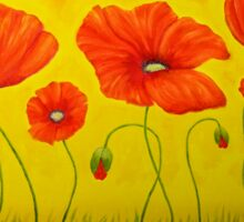 Poppies at the time of Sticker