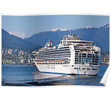 Departing Vancouver, Princess Cruise, 2012. Poster