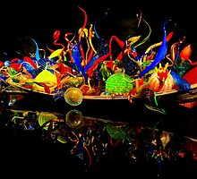 Chihuly Glass Boat by Barbara  Brown