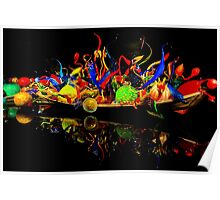 Chihuly Glass Boat Poster