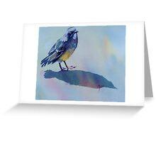 """Chippie, the Teenage Robin"" Greeting Card"