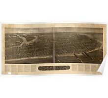 Panoramic Maps Aero view of Atlantic City New Jersey 1910 Poster
