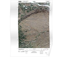 USGS Topo Map Washington State WA Malaga 20110411 TM Poster