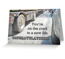 Congratulations New Life Greeting Card - Traffic Jam Greeting Card
