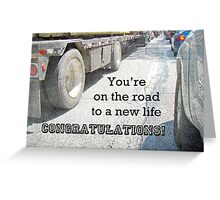 Congratulations New Life Greeting Card - Traffic Jam Greeting Card