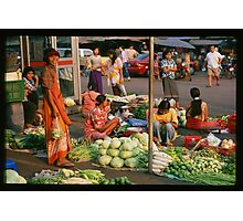 Morning Market Photographic Print