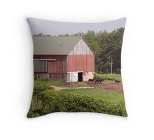 Cows in the barnyard Throw Pillow
