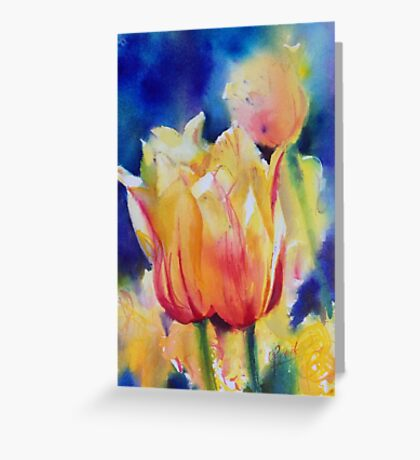 """Tulips"" Greeting Card"