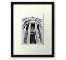 The Front of St Paul's Cathedral Framed Print
