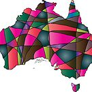 Quilted Australia Map by Emily Bieman