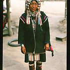 Akha Lady Traditional Clothing by Rob Steer