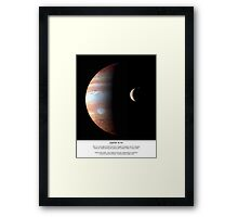 Jupiter and IO Series III Framed Print