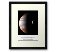 Jupiter & IO II Series V Framed Print
