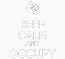 Keep Calm and Occupy  (version2) Baby Tee