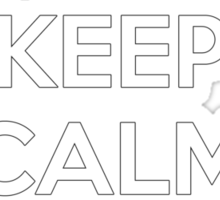 Keep Calm and Occupy  (version2) Sticker