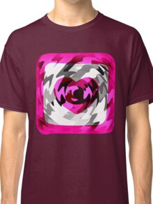Funky Heart Art Design Abstract Classic T-Shirt