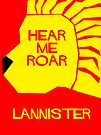 House Lannister Minimalist Cutout by atlasspecter